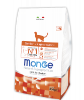 Корм Monge Superpremium Cat Senior для пожилых кошек (7+) 400гр