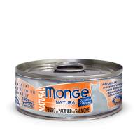 Консервы Monge Cat Natural Tonno del Pacifico con Salmone для кошек с тихоокеанским тунцом и лососем 80гр