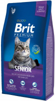 Корм Brit Premium Cat Senior для пожилых кошек курица с куриной печенью 800гр